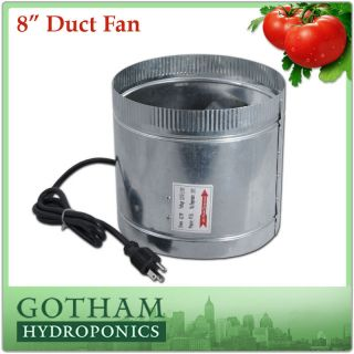 inch 400CFM Duct Fan Booster Inline Cool Air Blower Vent F006