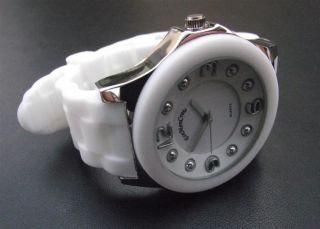 Reloj Mujer Alta Moda EMC Blanco Correa de Seguridad