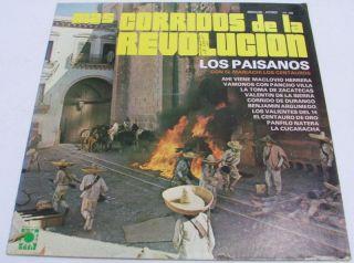 Los Paisanos mas Corridos de La Revolution LP Mexican Music RARE La