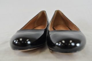 CORSO COMO FANTASTIC BLACK CRINKLED PATENT LEATHER BALLET FLATS