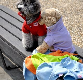 Cotton Pet Dog Clothes Apparel Cute POLO T Shirt 7 color Size XS S M