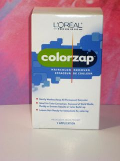 COLOR ZAP HAIR COLOR REMOVER ONE 1 APPLICATION NIB EFFACEUR DE COULEUR
