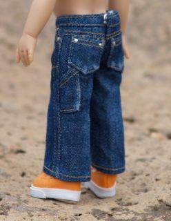 Sandwashed Dark Blue Colvin Jeans for DJ or Riley