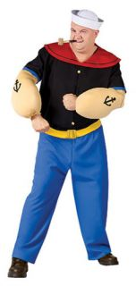 popeye the sailor man plus size adult costume includes sailor shirt