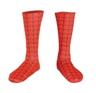 Spiderman Costume Deluxe Boot Covers Adult Spiderman Boot Covers New