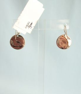 GK Designs Hammered Copper Disc Earrings Lucky Good Luck Charms 2216