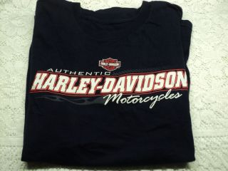 Harley Davidson T Shirt Dark Blue Michaels Harley Cotati Calif