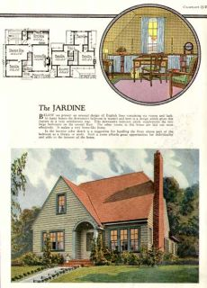 1927 floor plan image of english cottage home design