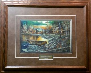 Jim Hansel High Country Retreat Cabin Framed Print