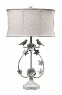 french country style bird iron table lamp sophisticated country