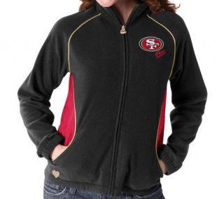 NFL San Francisco 49ers Womens Overlay Micro Fleece Jacket —