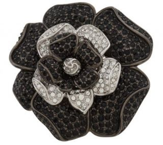 Nolan Millers Black & White Stanwyck Gardenia Pin —