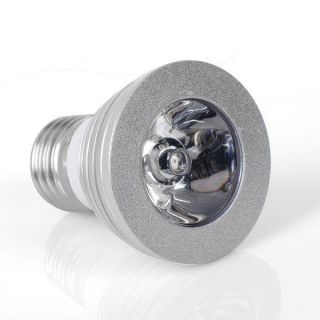 3W E27 85~265V AC RGB LED Cool Color Change Light Bulb Lamp + Remote