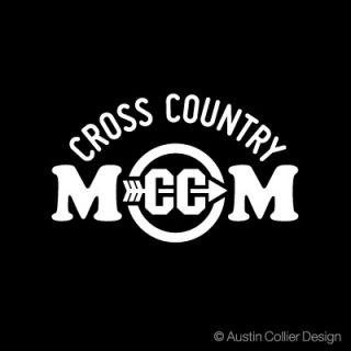 Cross Country Mom Vinyl Decal Car Sticker Track Team