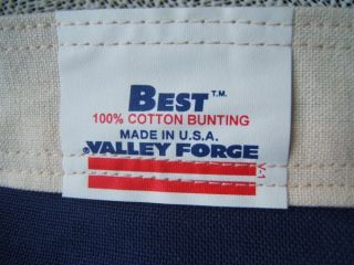 100% Cotton Bunting Valley Forge AMERICAN US FLAG Embroidered 50 STARS
