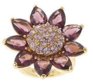 Joan Rivers Stunning Crystal Petal Flower Ring —