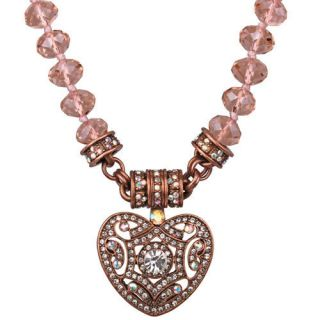 FOLLY HEAVENLY HEART MAGNETIC INTERCHANGEABLE NECKLACE COPPERTONE