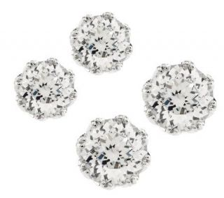 Tacori IV Diamonique Epiphany Bloom Cut Stud Earrings