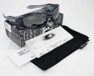 New Oakley Monster Dog Sunglasses Crystal Black w Black Iridium Lens