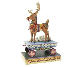 Jim Shore Heartwood Creek Reindeer Christmas Train Figurine —