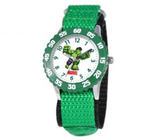Marvel Incredible Hulk Stainless Steel Time Teacher Watch —
