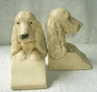 Coventry Ware English Cocker Spaniel Bookends Book Ends