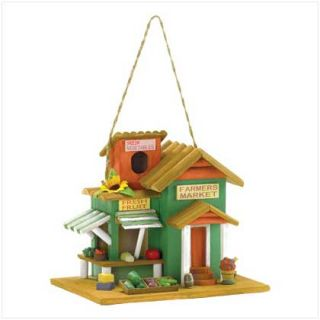 Farmers Market Wooden Birdhouse Outdoor Garden Patio
