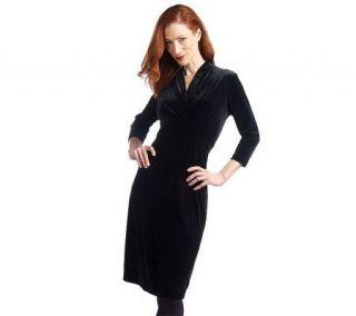Elisabeth Hasselbeck For Dialogue Stretch Velvet Dress
