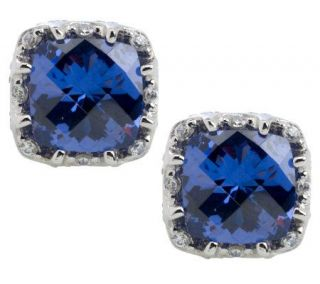 Tacori IV Diamonique Epiphany Crescent Crown Stud Earrings —