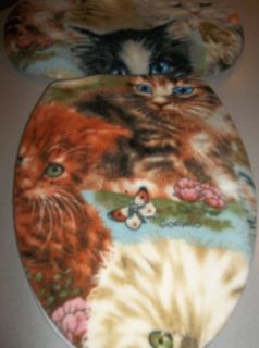 Toilet Seat Lid Tank Lid Cover Cat Feline Kitten