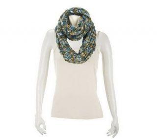 Liz Claiborne New York Multicolor Marled Sweater Knit Scarf   A229562