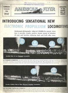 1947 AMERICAN FLYER RAILROAD TRAINS Electronic Propulsion A C Gilbert