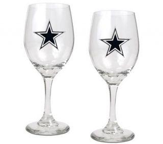 NFL Dallas Cowboys Wine Glass Set —