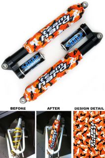 Orange Morning Wood Camo Shock Covers Honda TRX 250R 300EX 400EX 450R