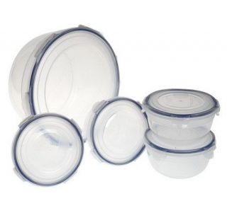 Lock & Lock 5 piece Salad Bowl Storage Set —
