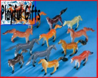 12 horse figure western party favors