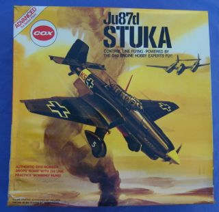 Cox Stuka Thimble Drome Gas Airplane Mint
