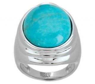 VicenzaSilver Sterling Oval Turquoise Ring —