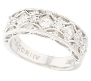Tacori IV Diamonique Epiphany Crescent Design AnniversaryBand