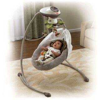 Fisher Price X7051 My Little Snugamonkey Cradle N Swing