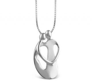 Loving Family Loving Couple Sterling Pendant with Chain —