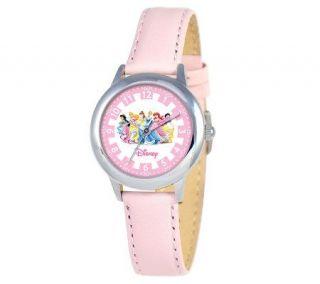 Disney Princess Pink Leather Time Teacher Watch   J308264