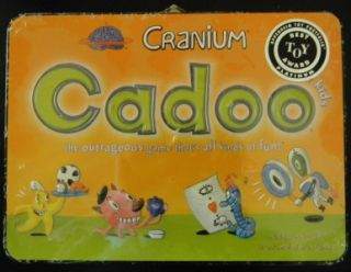Cranium Cadoo Lunchbox Tin New Lunch Box 7 Up 2 Players Kids Girl Boy