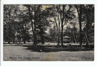 McCurdy Park Corunna MI Postcard Shiawassee County Michigan Fair Old