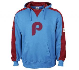 MLB Philadelphia Phillies Shaman Hooded Fleece  Blue —