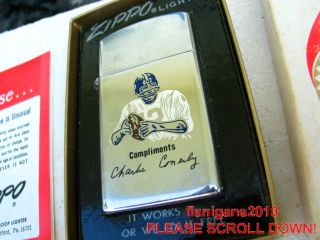 New York Giants Football Charley Conerly Zippo Lighter Box