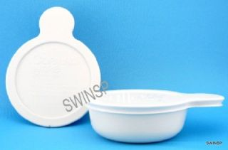 Lot of 2 Corning Ware Grab It Bowls w/ New Plastic Lids P 150 B 15 oz