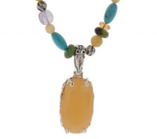 Carolyn Pollack Sterling Sweet Dreams Pendant w/Beads —
