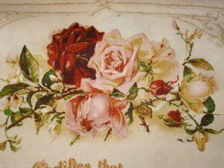 Honeymoon Cottage Retro Marriage Certificate Blue Hill Fabrics Cotton