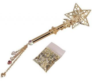 Kirks Folly Fairy Godmother Enchanted GardenMagic Wand Pin —